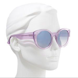 Diff Luna Amethyst Glitter 54mm Sunglasses